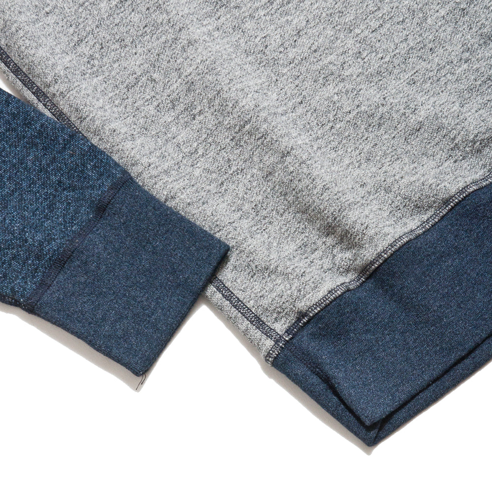 National Athletic Goods for Lost & Found Raglan Warm Up Grey/Navy at shoplostfound, cuff