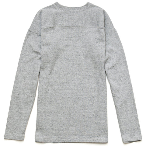 National Athletic Goods L/S Football Tee Grey at shoplostfound in Toronto, front