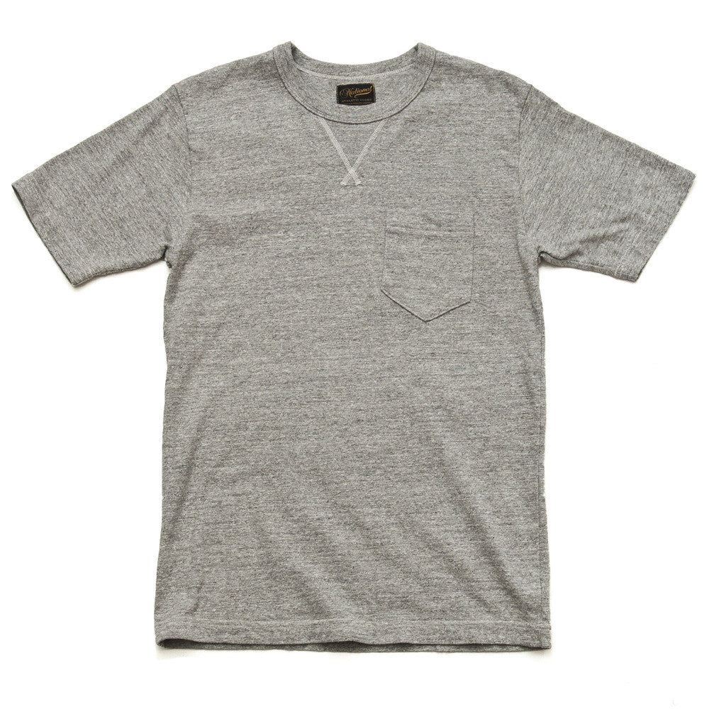 National Athletic Goods V Pocket Tee Mid Grey at shoplostfound in Toronto, front