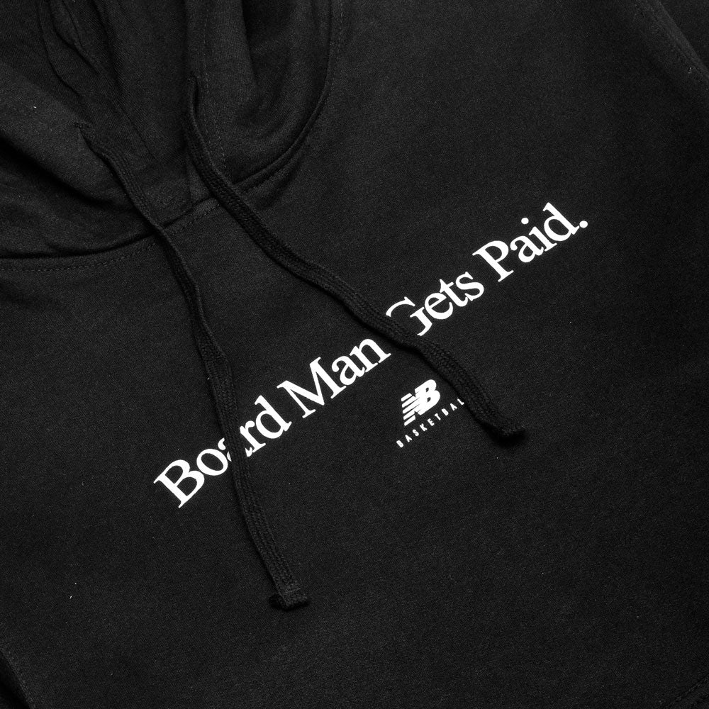 New Balance Board Man Gets Paid Hoodie Black / White at shoplostfound, print