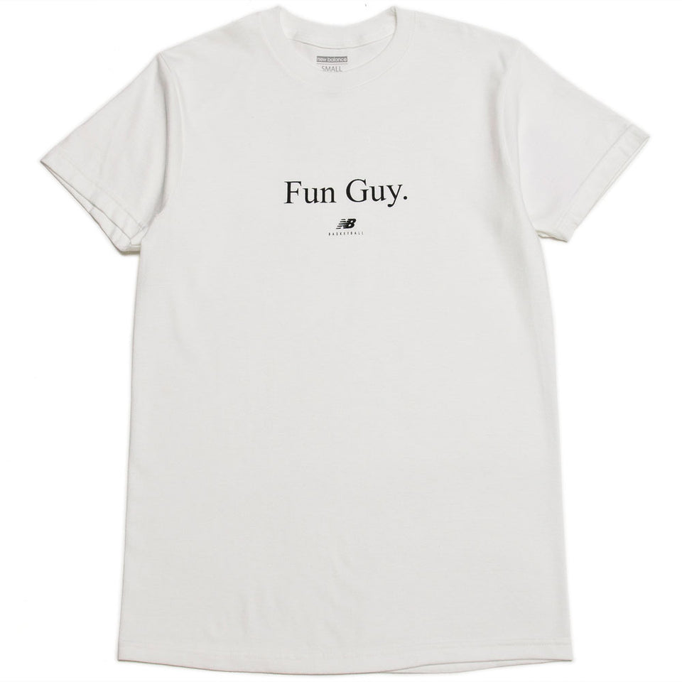 New Balance Fun Guy Tee White / Black at shoplostfound, front