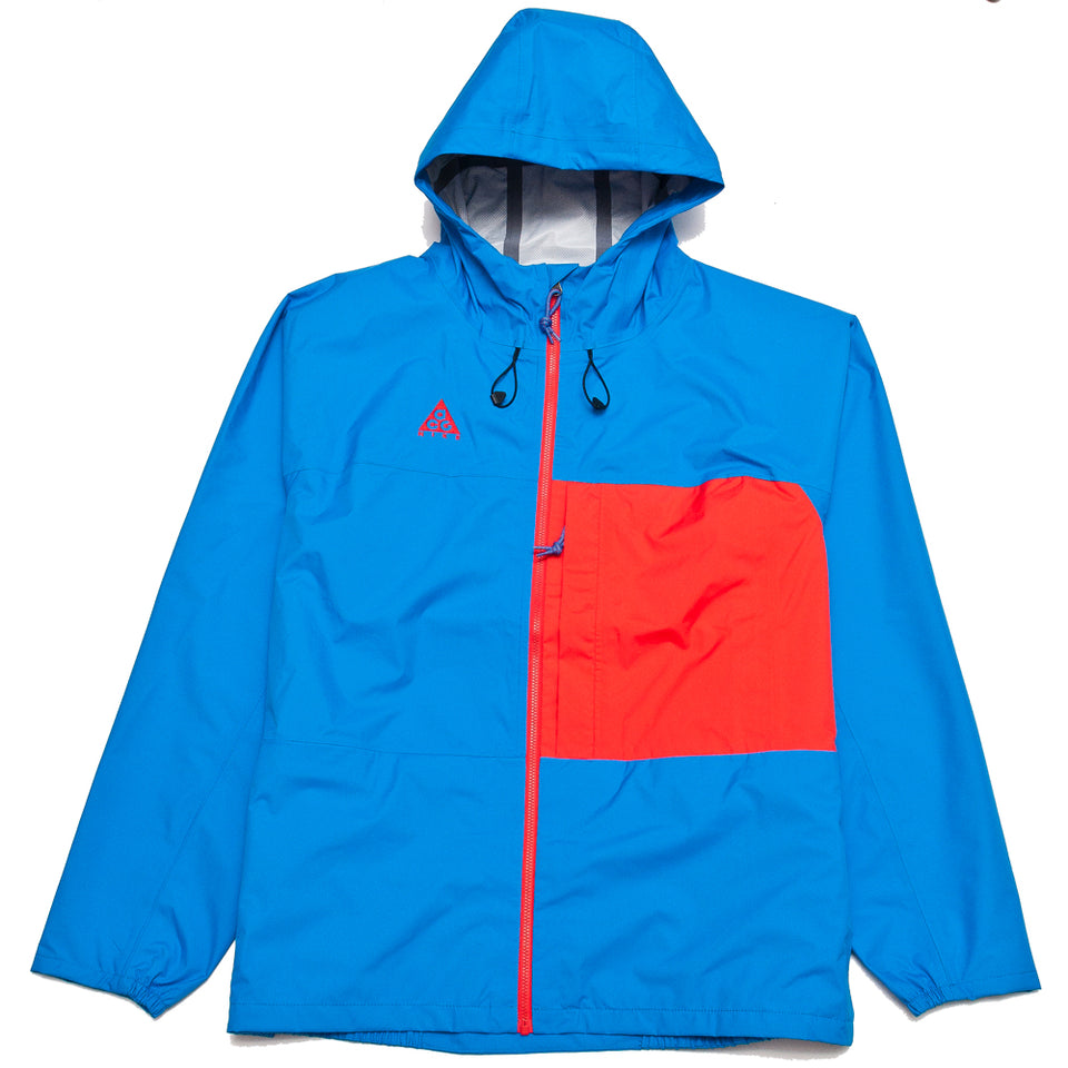 Nike ACG Packable Rain Jacket Photo Blue/Habanero Red