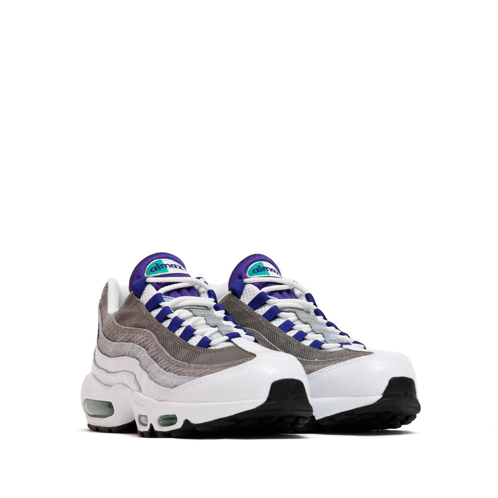 Nike Air Max 95 LV8 White/Emerald Green/Wolf Grey/Court Purple at shoplostfound, 45
