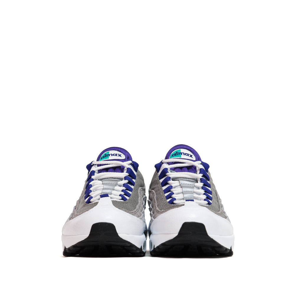 Nike Air Max 95 LV8 White/Emerald Green/Wolf Grey/Court Purple at shoplostfound, front