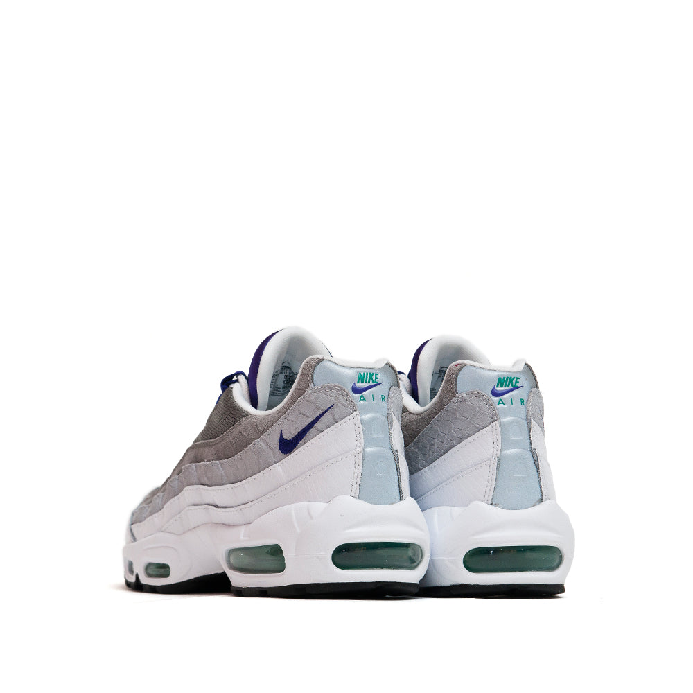 Nike Air Max 95 LV8 White/Emerald Green/Wolf Grey/Court Purple at shoplostfound, back