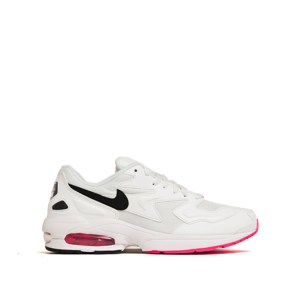 Nike Air Max2 Light Summit White/Black/Hyper Pink at shoplostfound, side
