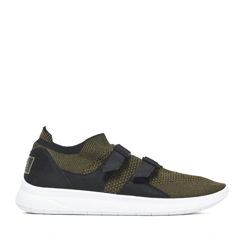 Nike Air Sockracer Flyknit Black/Olive at shoplostfound, 45