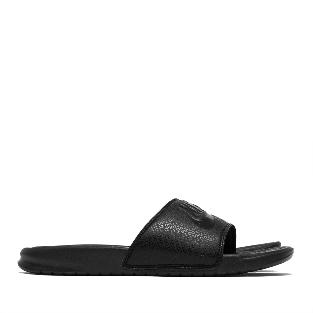 Nike Benassi JDI Black/Black at shoplostfound, side
