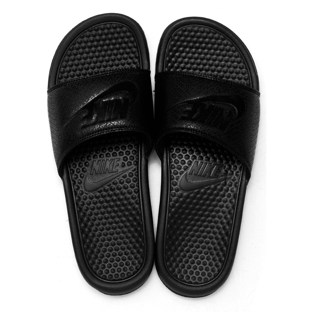 Nike Benassi JDI Black/Black at shoplostfound, top