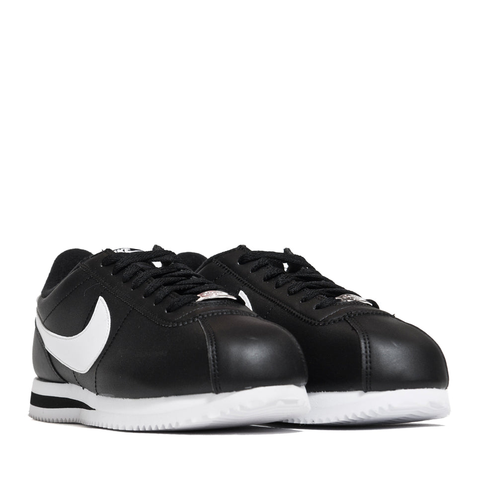 Nike Cortez Basic Leather Black/White at shoplostfound, 45