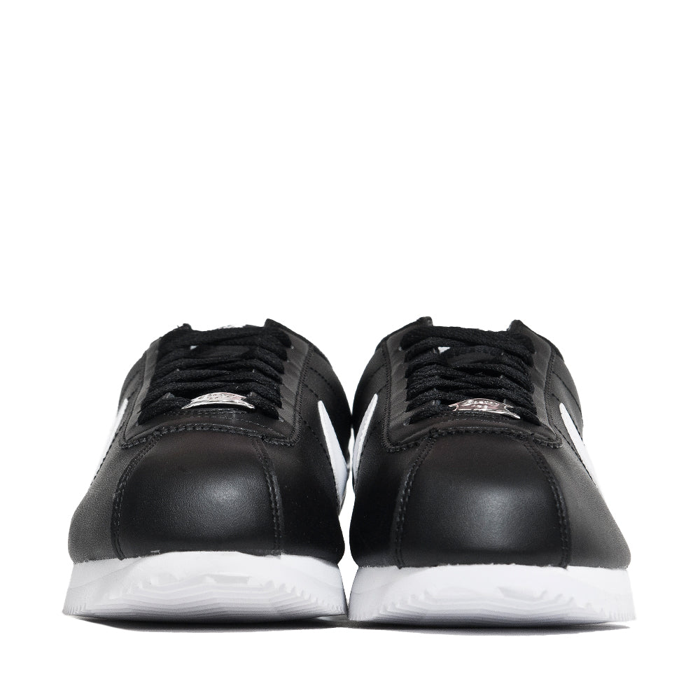 Nike Cortez Basic Leather Black/White at shoplostfound, front