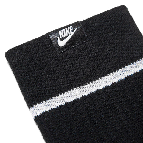Nike Essential Socks Black/White at shoplostfound, front