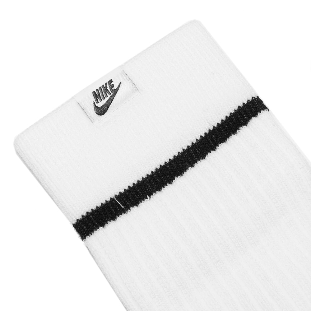 Nike Essential Socks White/Black at shoplostfound, detail