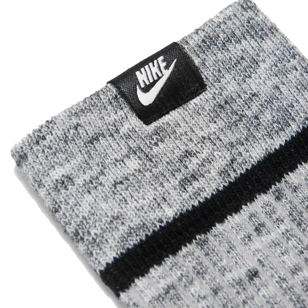 Nike Essential Socks Wolf Grey/White at shoplostfound, details