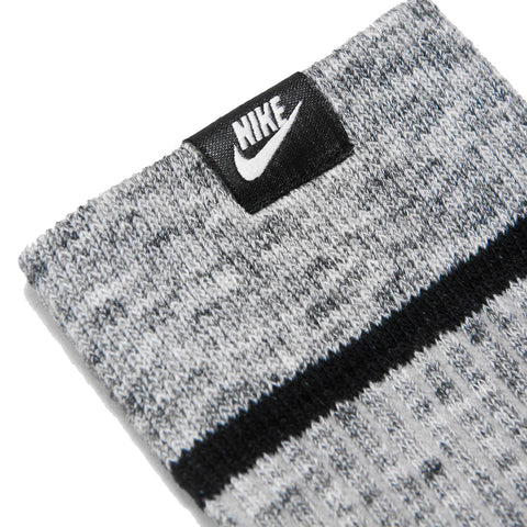 Nike Essential Socks Wolf Grey/White at shoplostfound, front