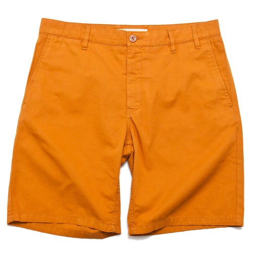 Norse Projects Aros Light Twill Short Cadmium Orange shoplostfound 1