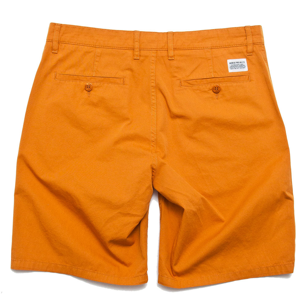 Norse Projects Aros Light Twill Short Cadmium Orange shoplostfound 2