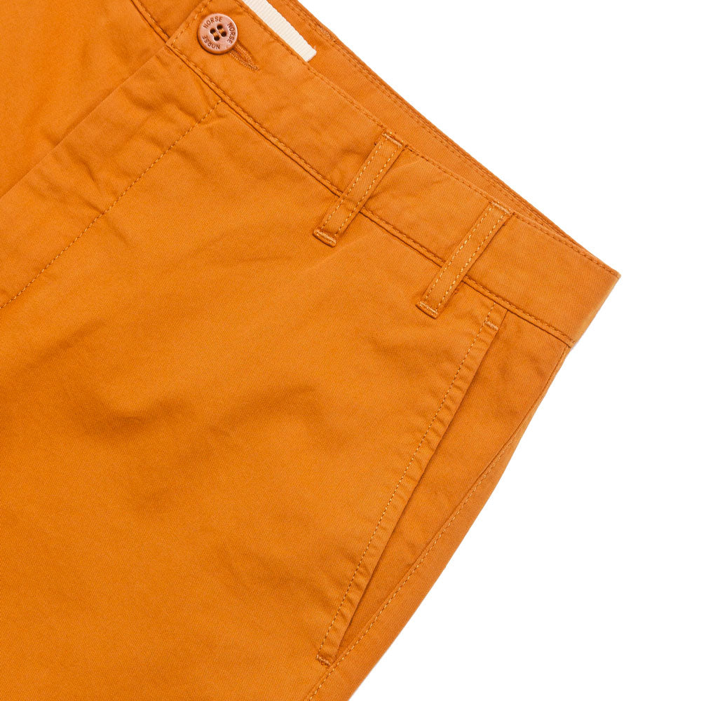 Norse Projects Aros Light Twill Short Cadmium Orange shoplostfound 3