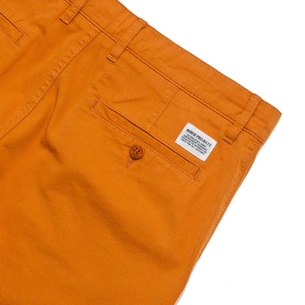 Norse Projects Aros Light Twill Short Cadmium Orange shoplostfound 4