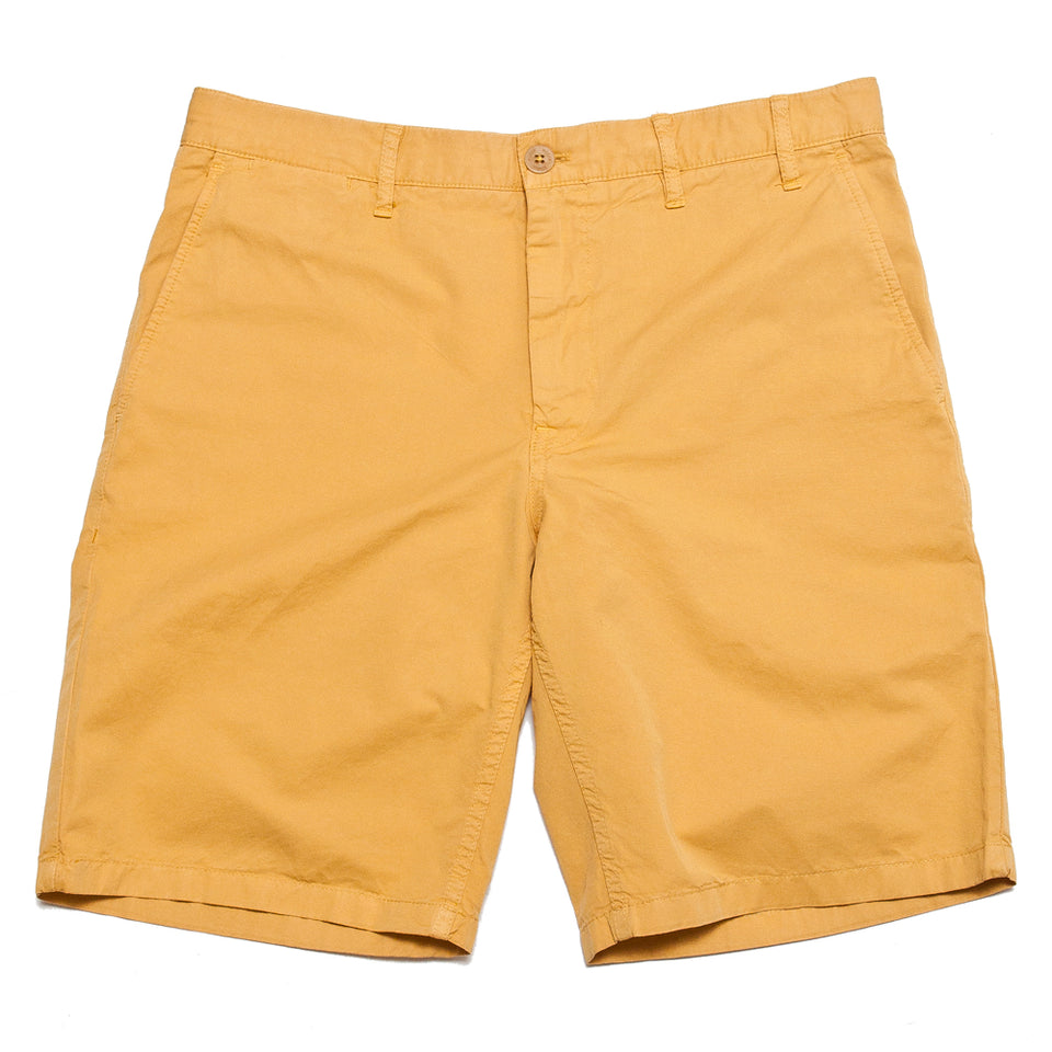 Norse Projects Aros Light Twill Short Sunwashed Yellow at shoplostfound, front