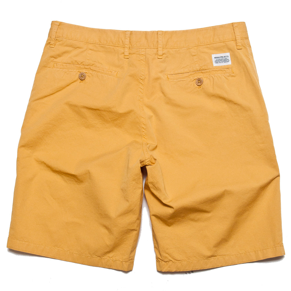 Norse Projects Aros Light Twill Short Sunwashed Yellow at shoplostfound, back