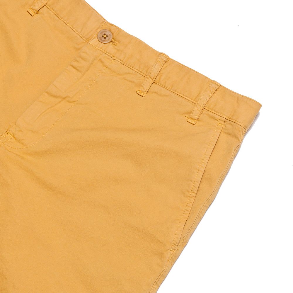 Norse Projects Aros Light Twill Short Sunwashed Yellow at shoplostfound, pocket