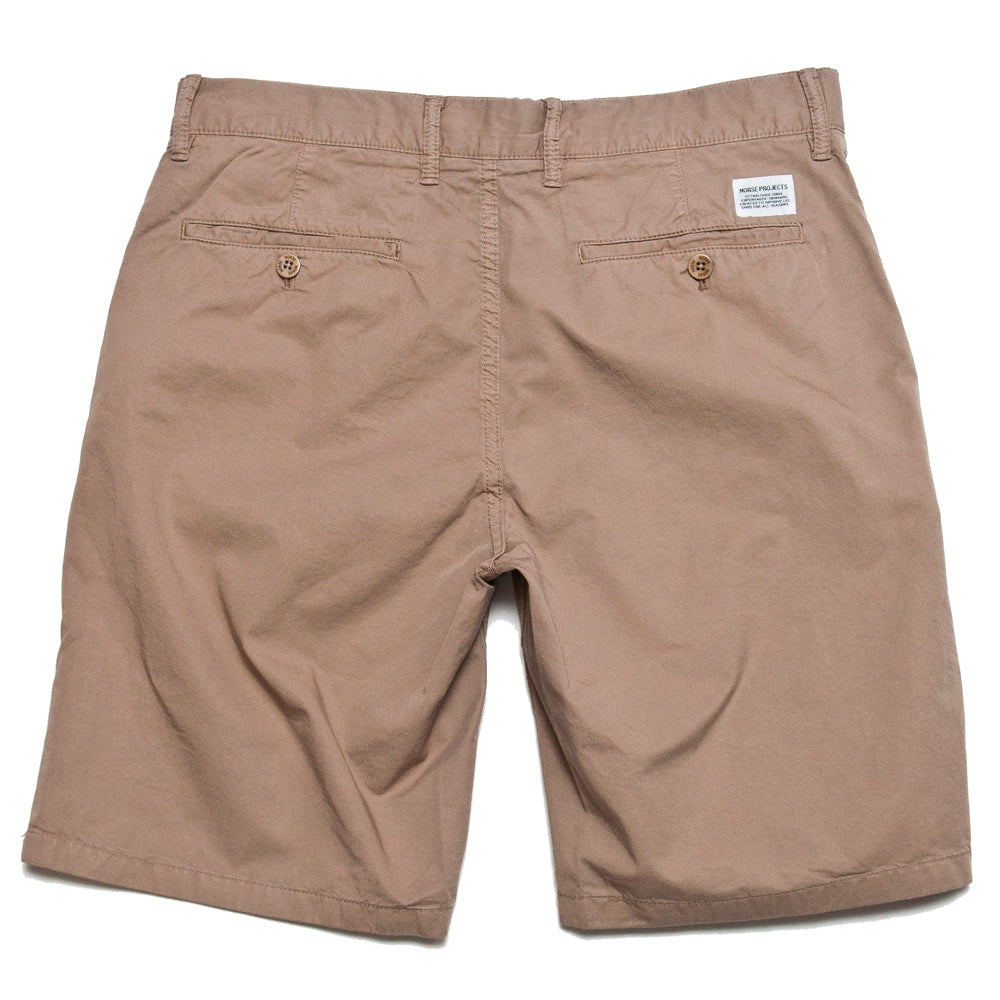 Norse Projects Aros Light Twill Short Utility Khaki at shoplostfound, back