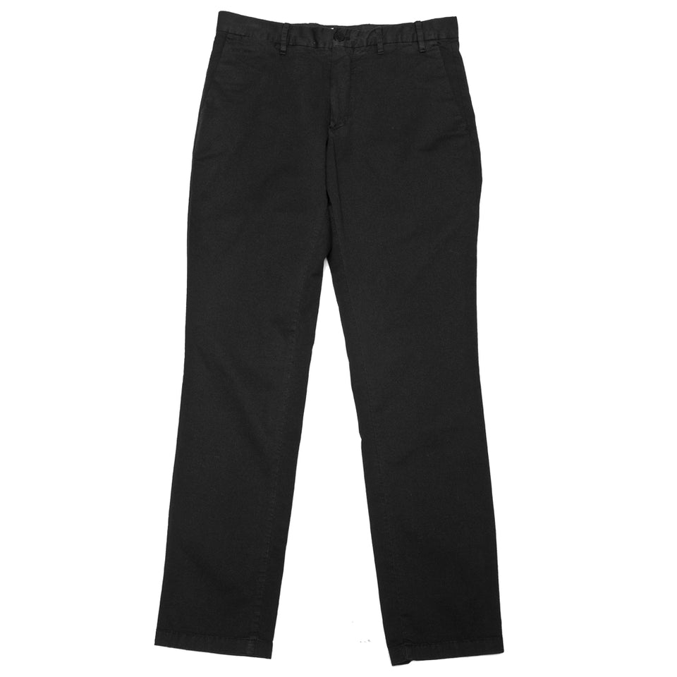 Norse Projects Aros Slim Light Stretch Black at shoplostfound, front
