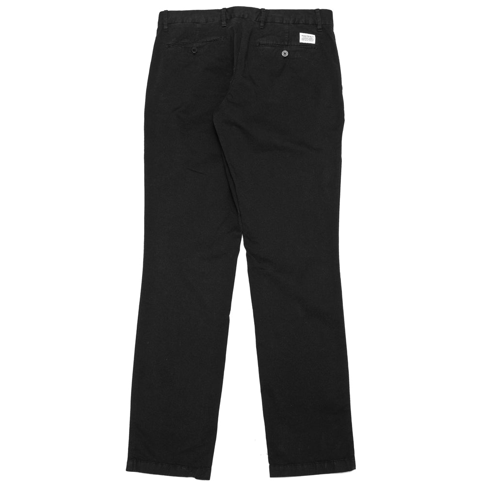 Norse Projects Aros Slim Light Stretch Black at shoplostfound, back