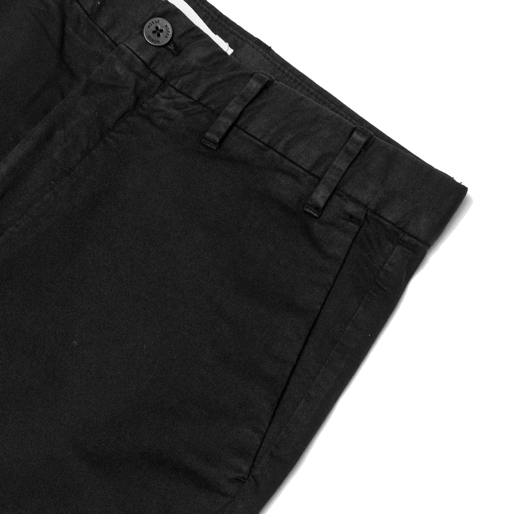 Norse Projects Aros Slim Light Stretch Black at shoplostfound, pocket