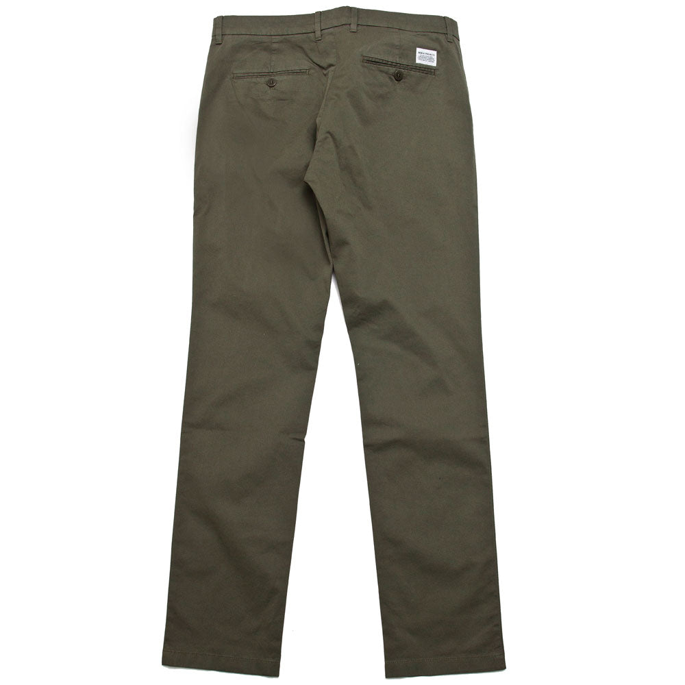Norse Projects Aros Slim Light Stretch Chino Ivy Green shoplostfound 2