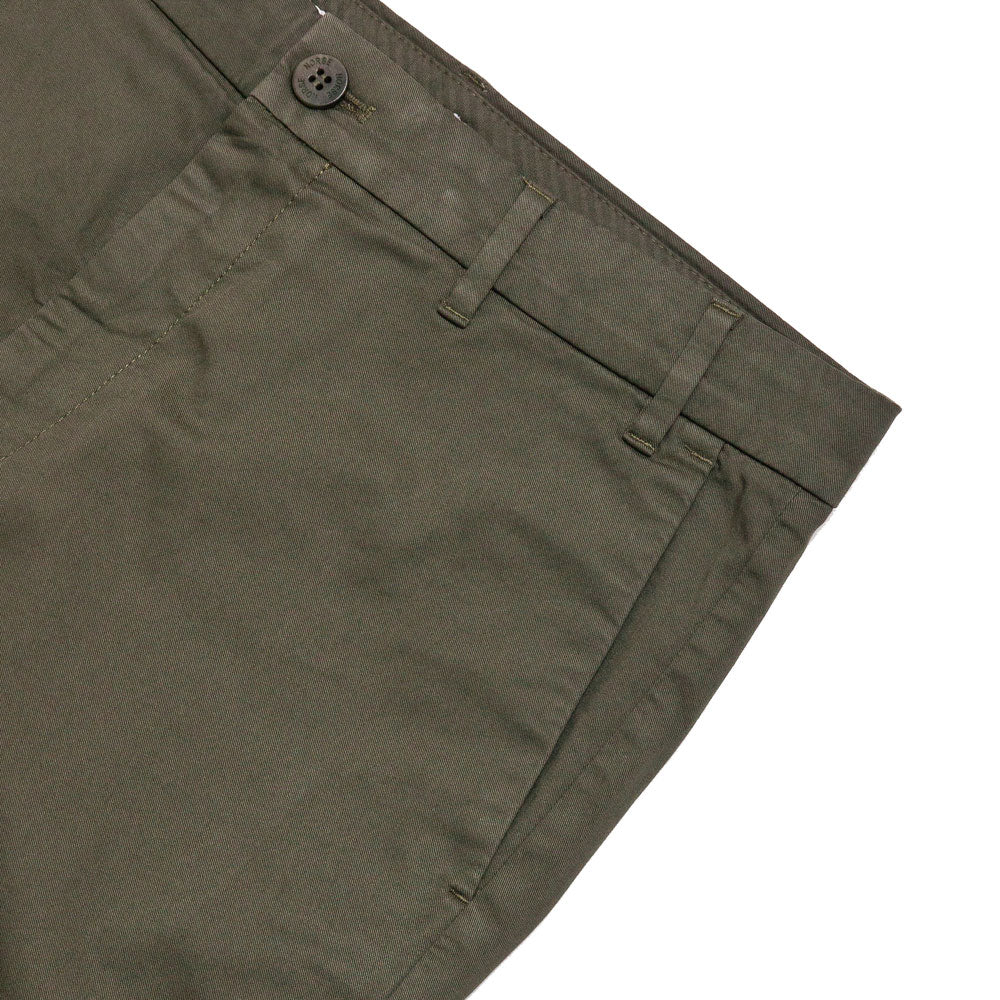 Norse Projects Aros Slim Light Stretch Chino Ivy Green shoplostfound 3