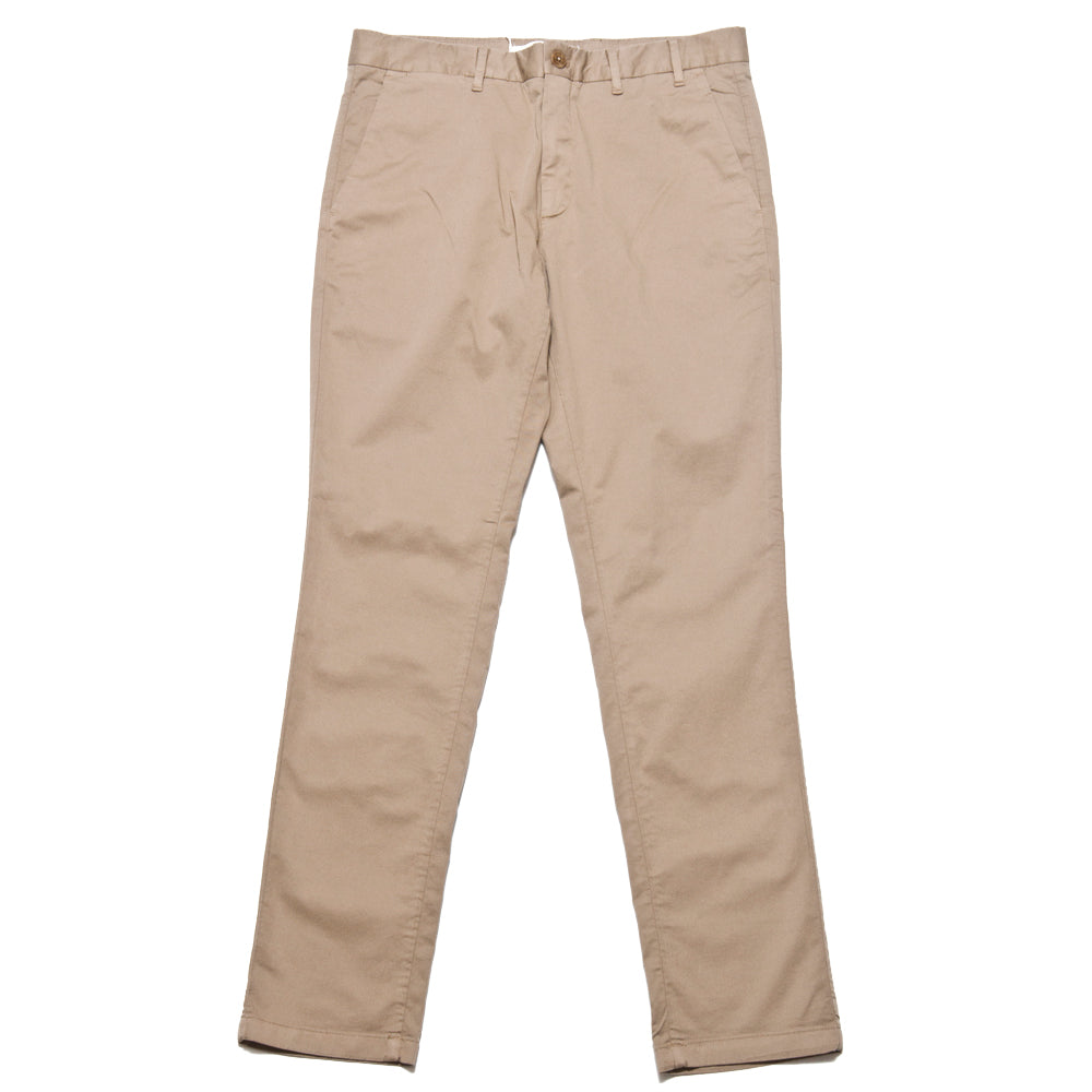 Norse Projects Aros Slim Light Stretch Utility Khaki at shoplostfound, front