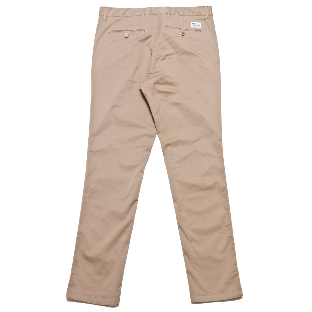 Norse Projects Aros Slim Light Stretch Utility Khaki at shoplostfound, back