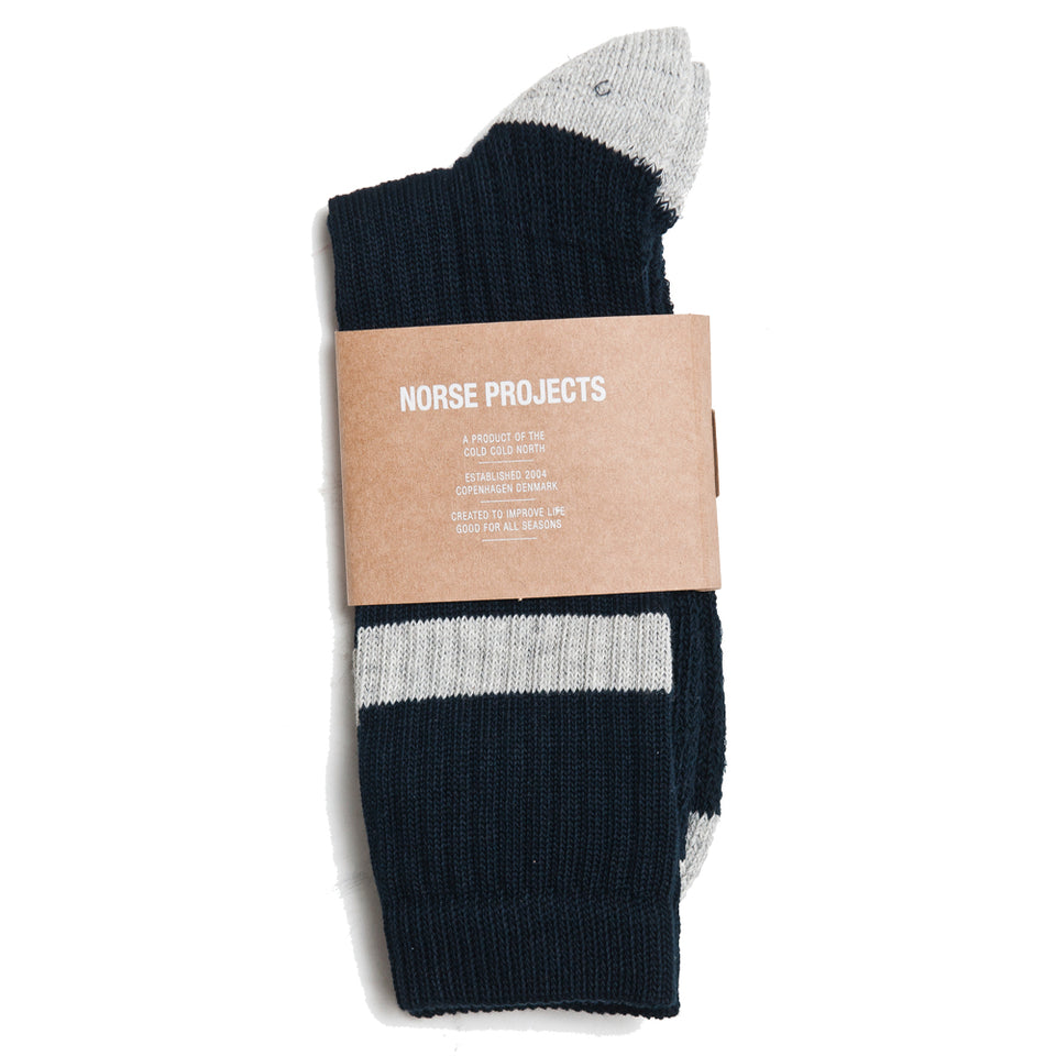 Norse Projects Bjarki Cotton Sport Dark Navy at shoplostfound, top
