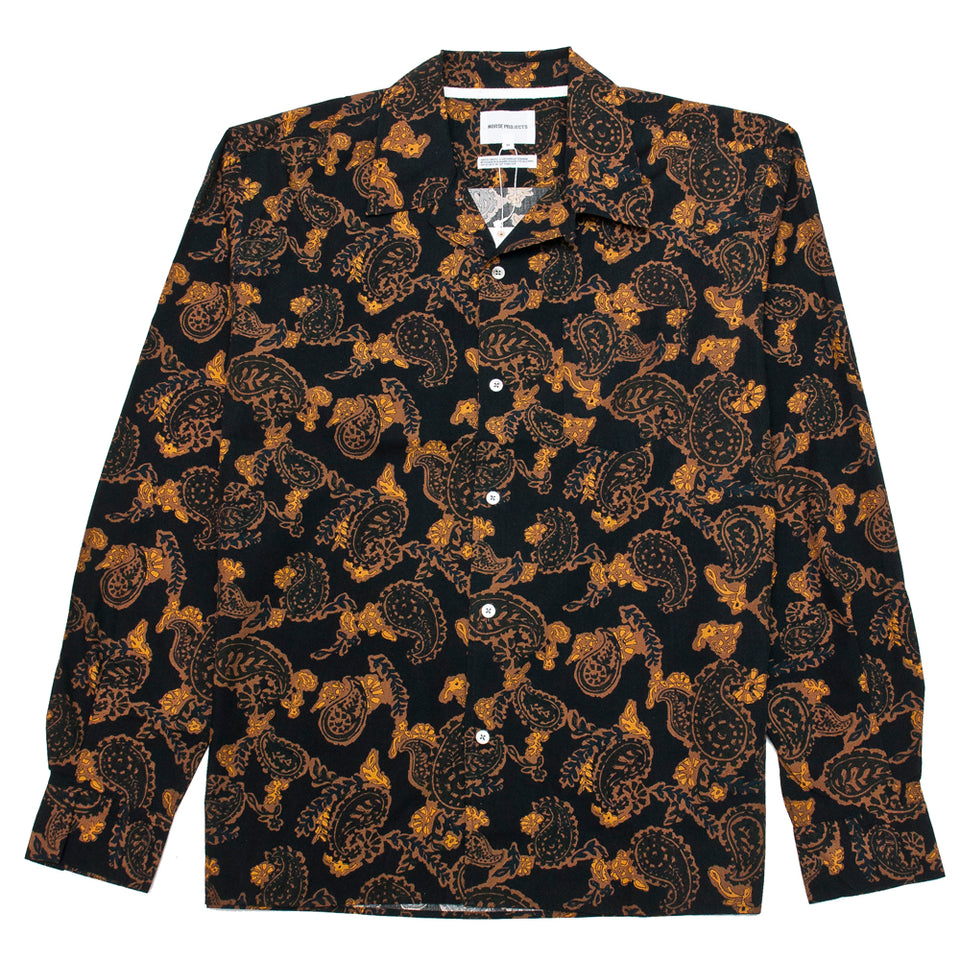 Norse Projects Carsten Paisley Black at shoplostfound, front