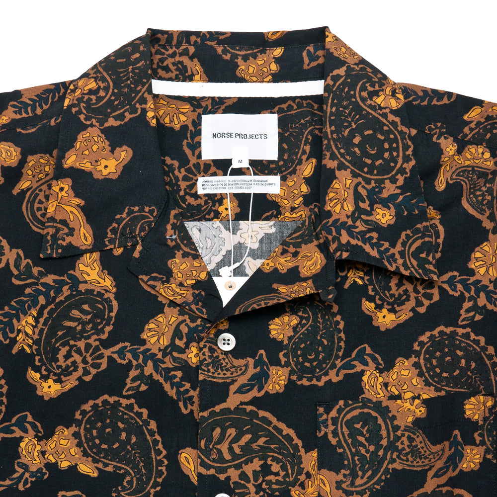 Norse Projects Carsten Paisley Black at shoplostfound, neck