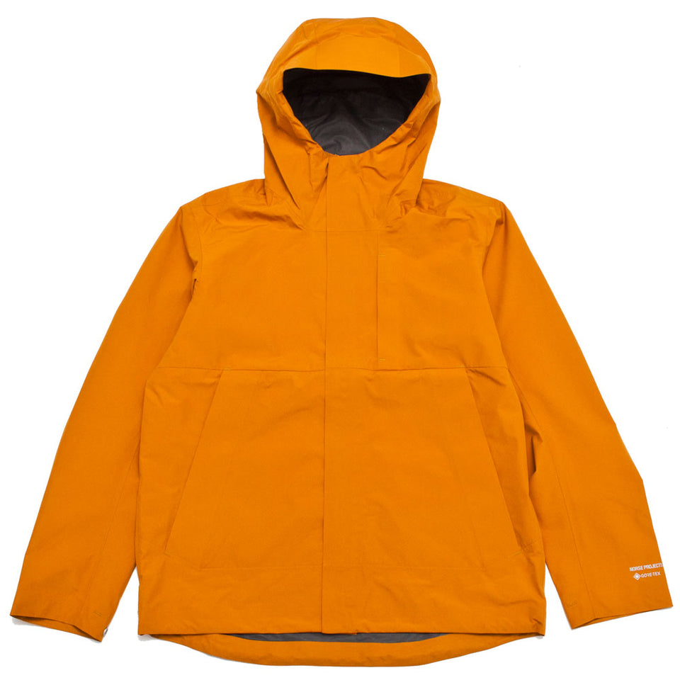 Norse Projects Fyn Shell Gore Tex 2.0 Cadmium Orange shoplostfound 1