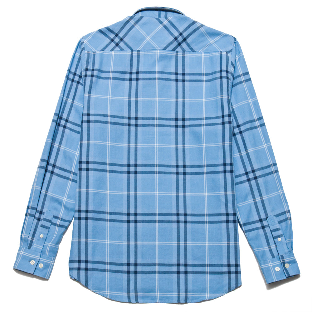 Norse Projects Hans Classic Check Luminous Blue at shoplostfound, back