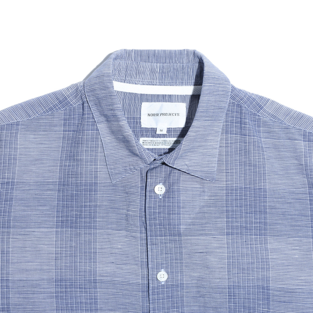 norse-projects-hans-cotton-linen-check-twilight-blue-detail