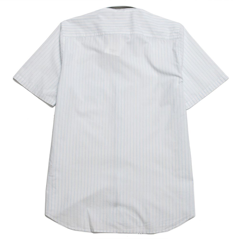 Norse Projects Hans Short Sleeve Summer Plain Weave Blue Stripe at shoplostfound, back