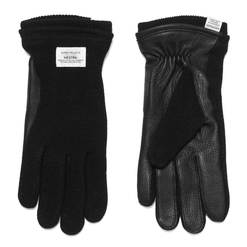 Norse Projects Hestra Svante Black Gloves at shoplostfound, front