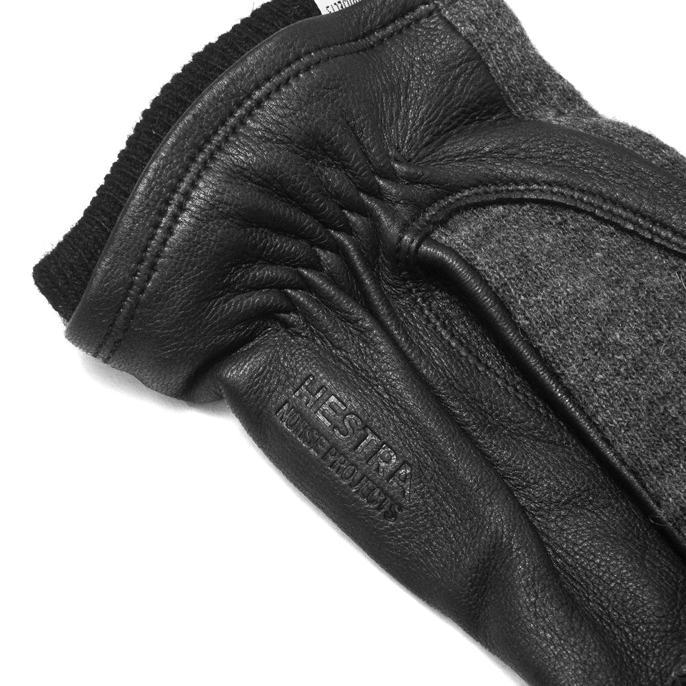 Norse Projects Hestra Svante Charcoal Gloves at shoplostfound, logo