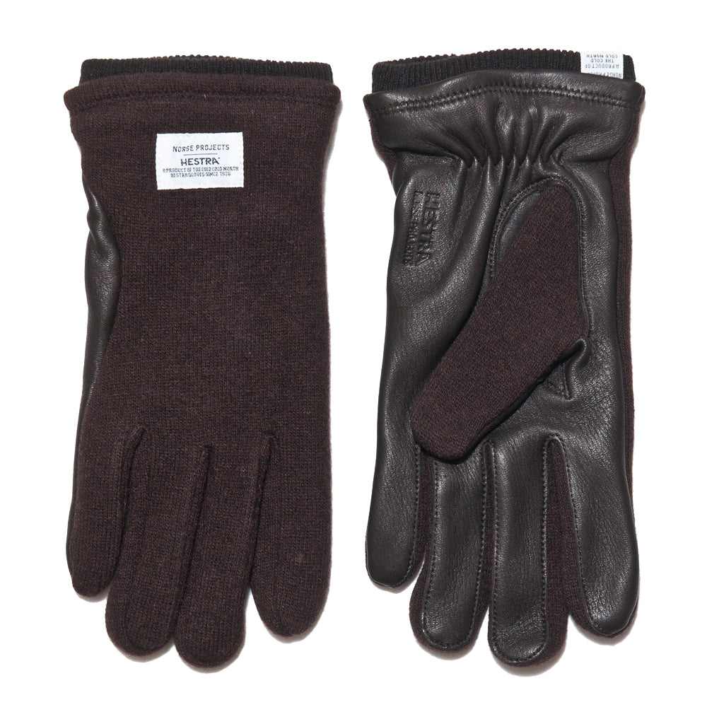 Norse Projects Hestra Svante Tobacco Gloves at shoplostfound, front