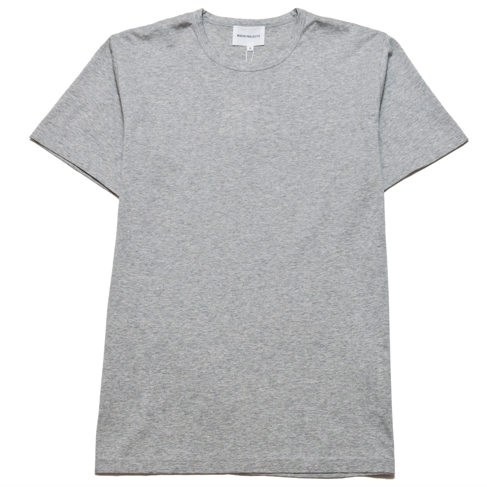 Norse Projects Jesper Mercerized Light Grey Melange at shoplostfound, front