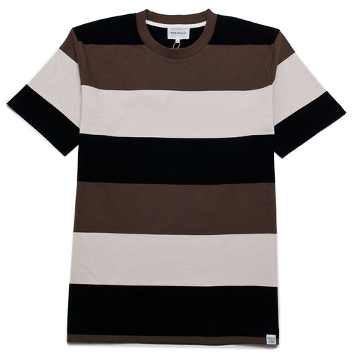 Norse Projects Johannes Border Stripe Taupe shoplostfound 1