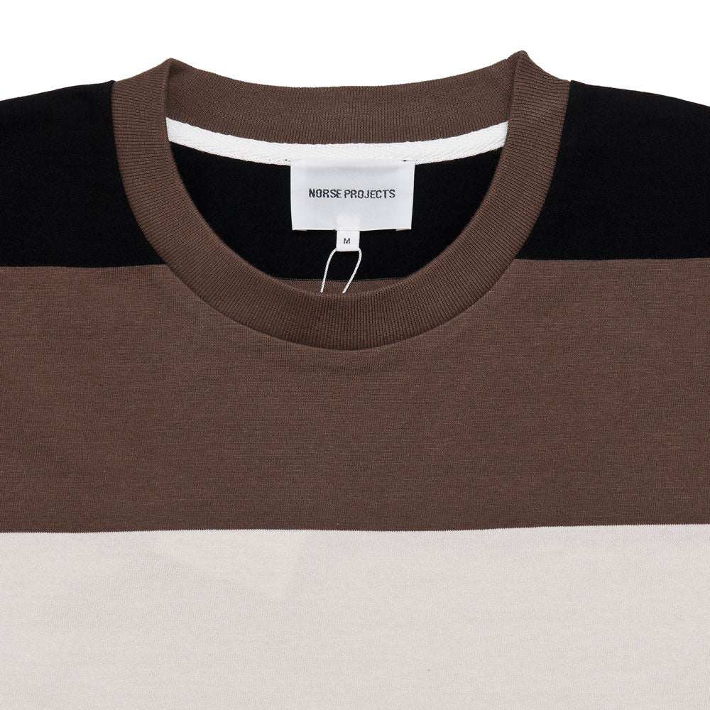 Norse Projects Johannes Border Stripe Taupe shoplostfound 3