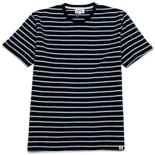 Norse Projects Johannes Jacquard Stripe Twilight Blue shoplostfound 1