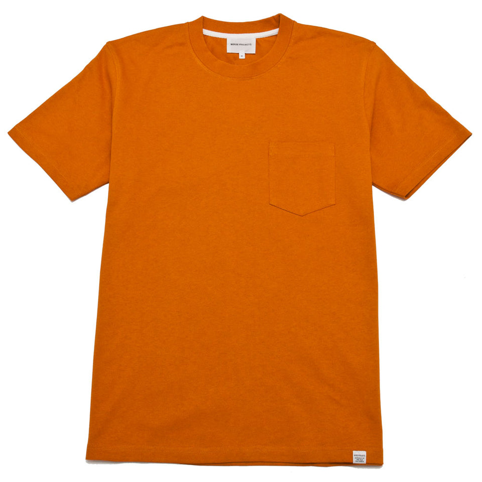 Norse Projects Johannes Pocket SS Cadmium Orange shoplostfound 1