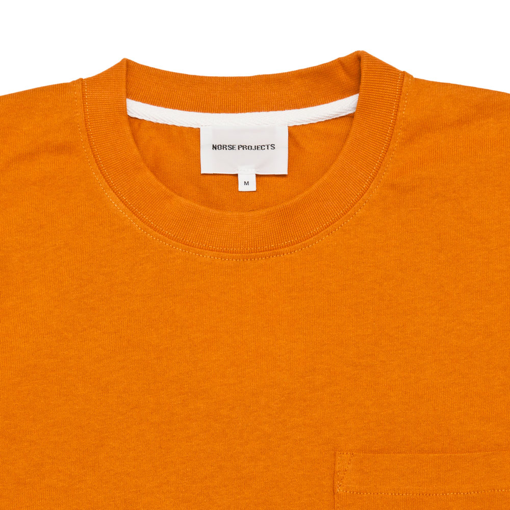 Norse Projects Johannes Pocket SS Cadmium Orange shoplostfound 2